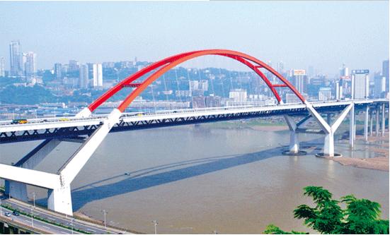 菜园坝大桥护栏防腐涂装工艺